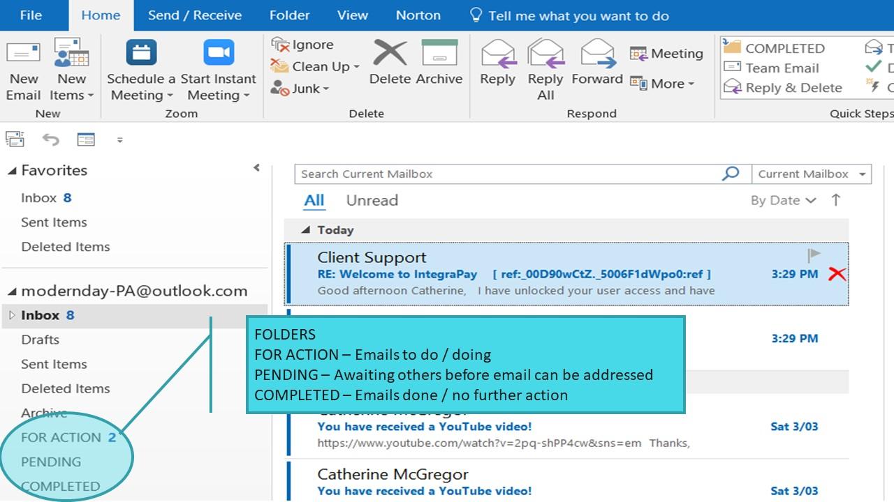 Inbox Zero – Tip 3